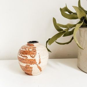 Handmade tan vase
